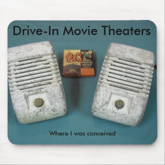 Drive-In Movie Theaters Mouse Pad