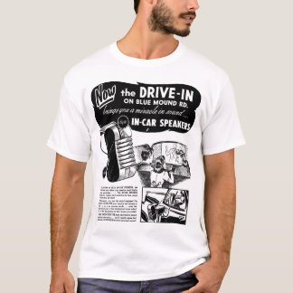 Drive-In Speakers Vintage Ad T-Shirt