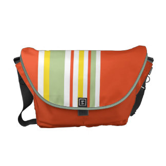 Drive in the Fast Lane Tangerine Mint and Yellow Courier Bag