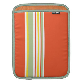 Drive in the Fast Lane Tangerine Mint and Yellow Sleeves For iPads