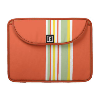 Drive in the Fast Lane Tangerine Mint and Yellow MacBook Pro Sleeves