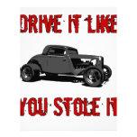Drive it like you stole it - hot rod customized letterhead