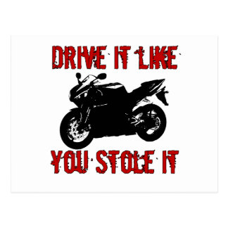 Drive it like you stole it - Japanese Bike Postcard