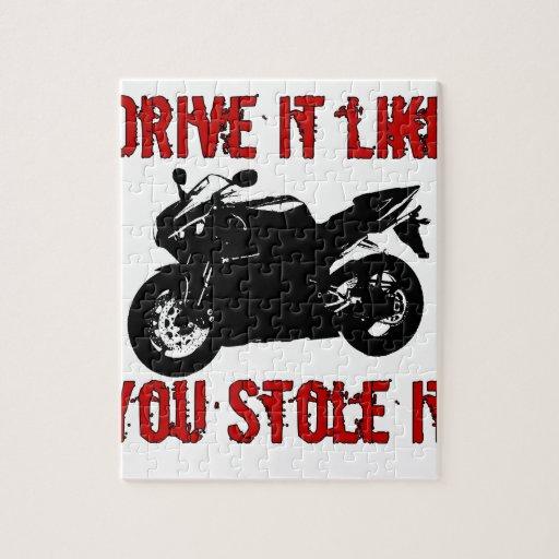 Drive it like you stole it - Japanese Bike Jigsaw Puzzle