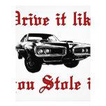Drive it like you stole it - muscle car custom letterhead
