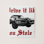 Drive it like you stole it - muscle car jigsaw puzzles