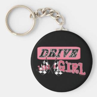 Drive like Girl Keychain
