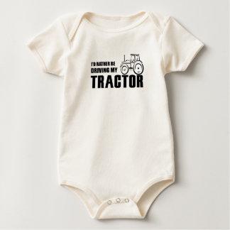 Drive my Tractor Baby Bodysuit