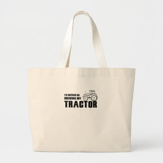 Drive my Tractor Large Tote Bag