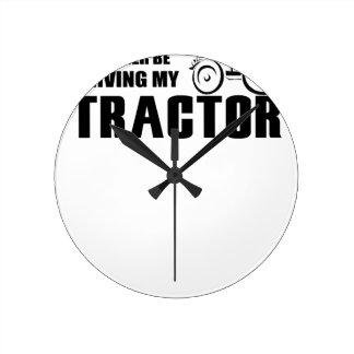 Drive my Tractor Round Clock
