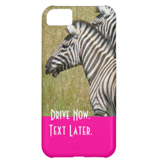 Drive Now Text Later iPhone 5 cases Zebra