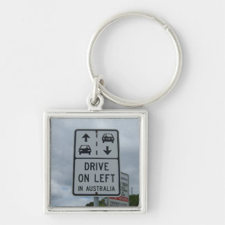 Drive On Left in Australia Sign Key Chain