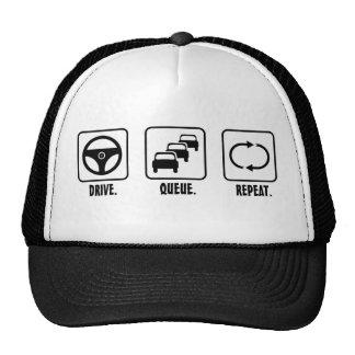 Drive Queue Repeat Mesh Hat