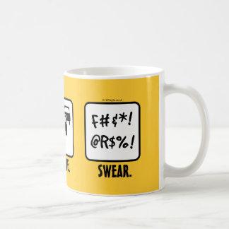 Drive. Queue. Swear. Classic White Coffee Mug