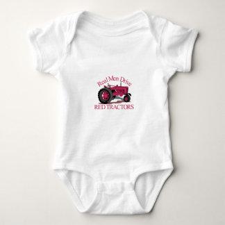Drive Red Tractors Baby Bodysuit