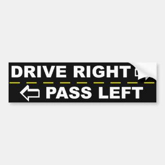 Drive Right Pass Left Bumper Sticker Car Bumper Sticker