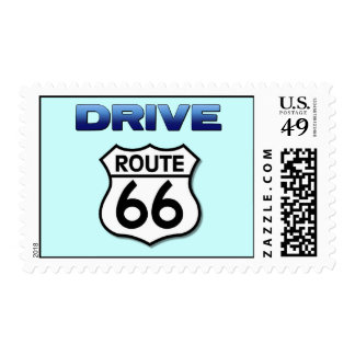 Drive Route 66 stamp