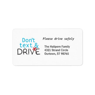 Drive Safely Address Labels