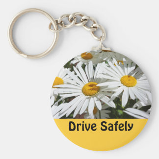 Drive Safely Keychains Driving Safe gifts Daisies