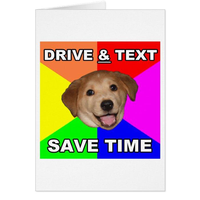 Drive & Text Card