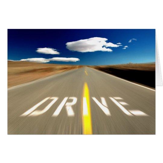 Drive the Desert Road Card