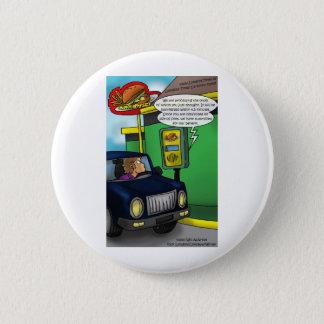 Drive Thru Metaphysics Funny Tees & Gifts Button