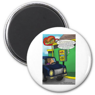 Drive Thru Metaphysics Funny Tees & Gifts Magnet