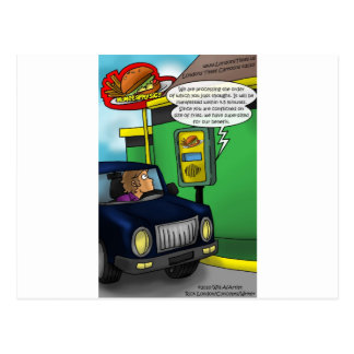 Drive Thru Metaphysics Funny Tees & Gifts Post Cards