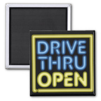 Drive Thru Open Neon Sign Magnets