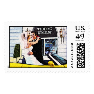 Drive Up Wedding Stamp