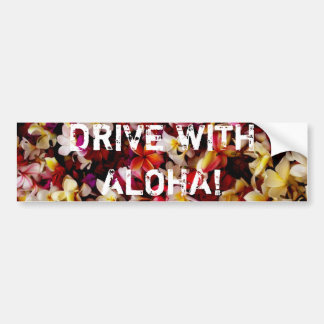 DRIVE WITH ALOHA! BUMPER STICKERS