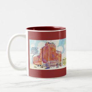 Drive Your Car Right Into Hotel Sherman Garage Two-Tone Coffee Mug