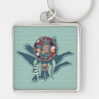 Driven Goose Spirit Guide for Native American Keychain