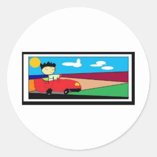 Driveout Classic Round Sticker
