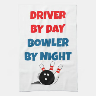 Driver by Day Bowler by Night Kitchen Towel