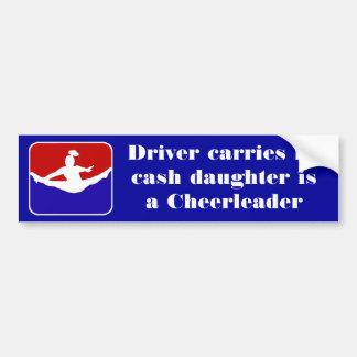 Driver carries no cash Cheerleading bumper sticker