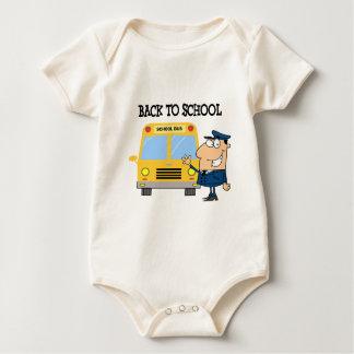 Driver In Front of School Bus Baby Bodysuit