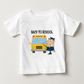 Driver In Front of School Bus Baby T-Shirt