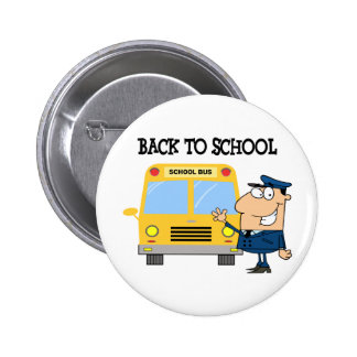 Driver In Front of School Bus Pin