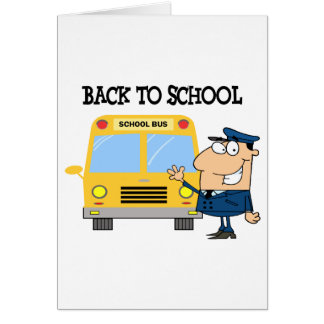 Driver In Front of School Bus Card