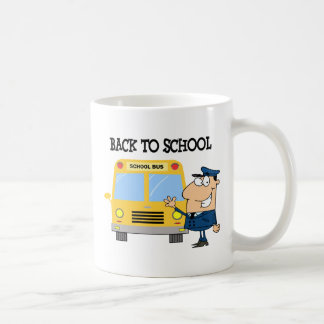 Driver In Front of School Bus Coffee Mug