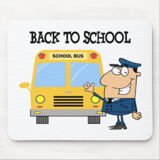 Driver In Front of School Bus Mouse Pad