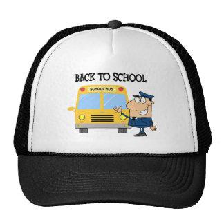 Driver In Front of School Bus Trucker Hat