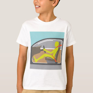 Driver in the car seat belt T-Shirt