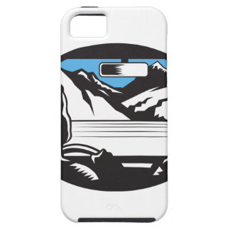 Driver Looking Up Mountain Car Windshield Oval Woo iPhone SE/5/5s Case