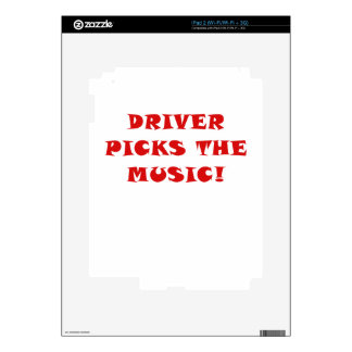 Driver Picks the Music iPad 2 Decals