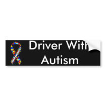 Driver With Autism Bumper Sticker