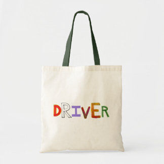 Driver word art colorful unique designated sober tote bag