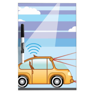 Driverless Car . Self-driving car Dry Erase Board