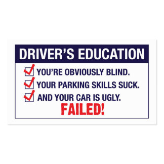Driver's Education FAILED Double-Sided Standard Business Cards (Pack Of 100)